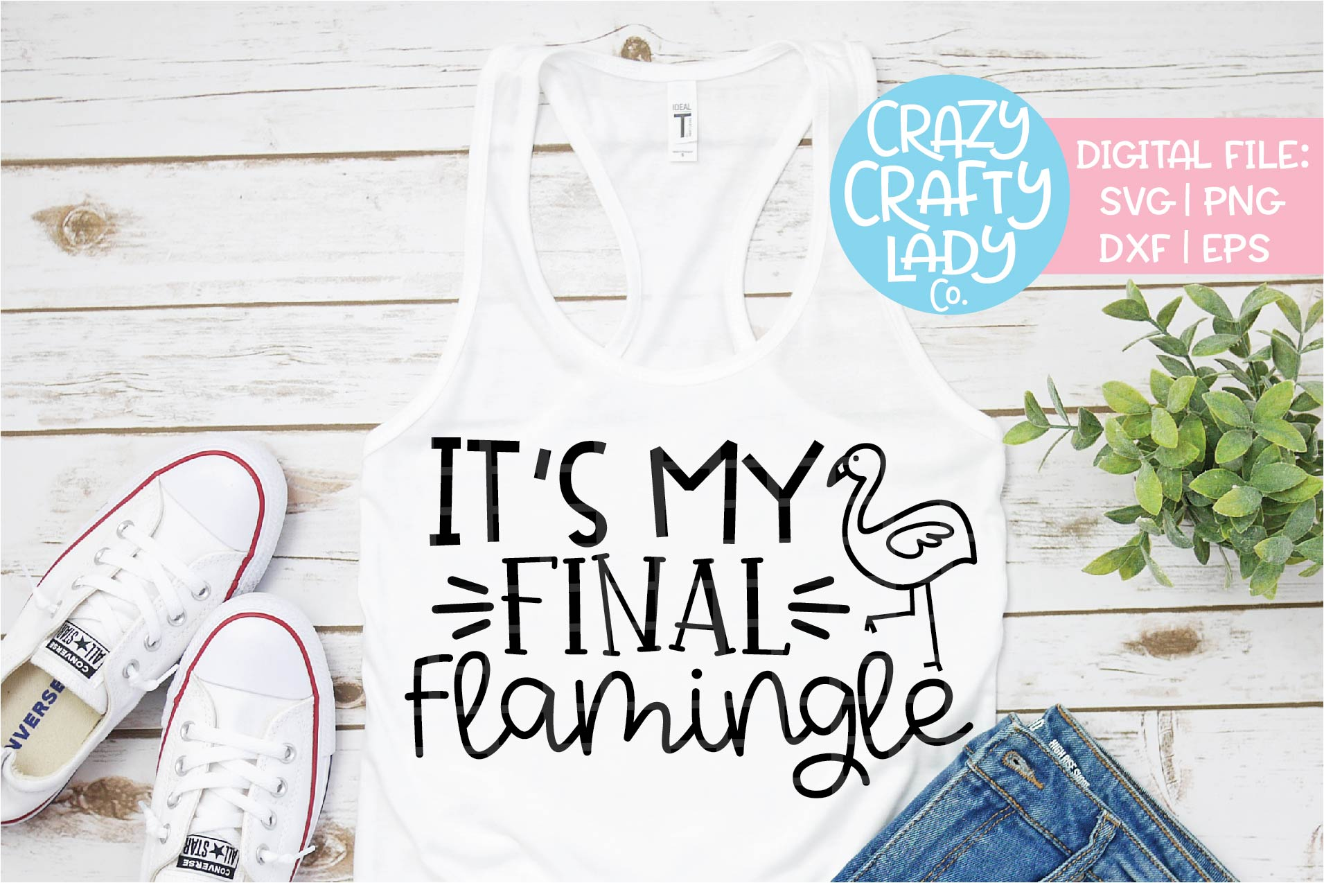 It's My Final Flamingle Wedding SVG DXF EPS PNG Cut File example image 1