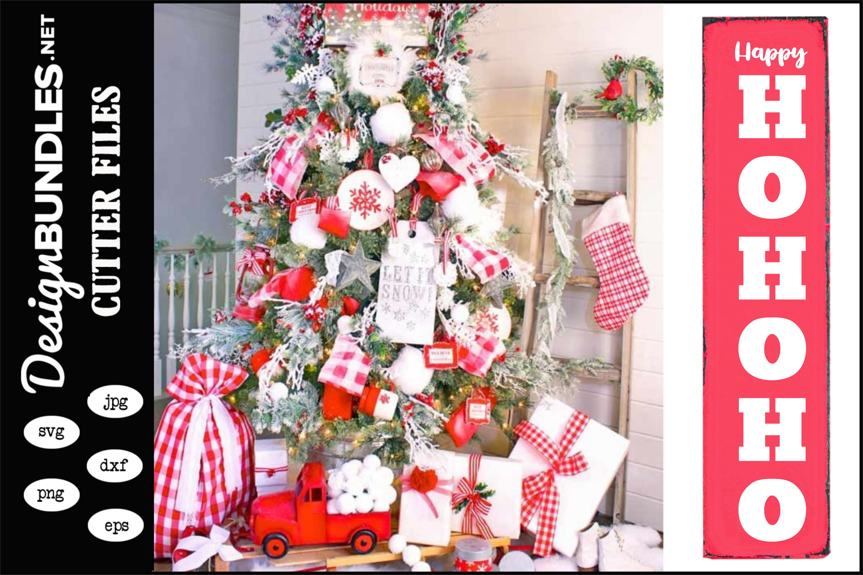 Happy HoHo Christmas Vertical SVG example image 1