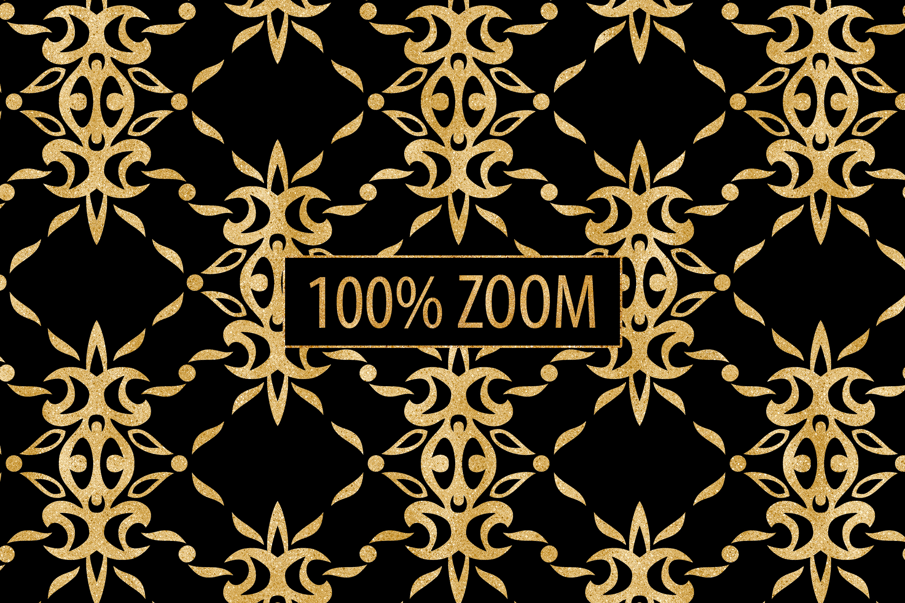 Black and Gold Seamless Papers - Damask & Geometric Patterns example image 8