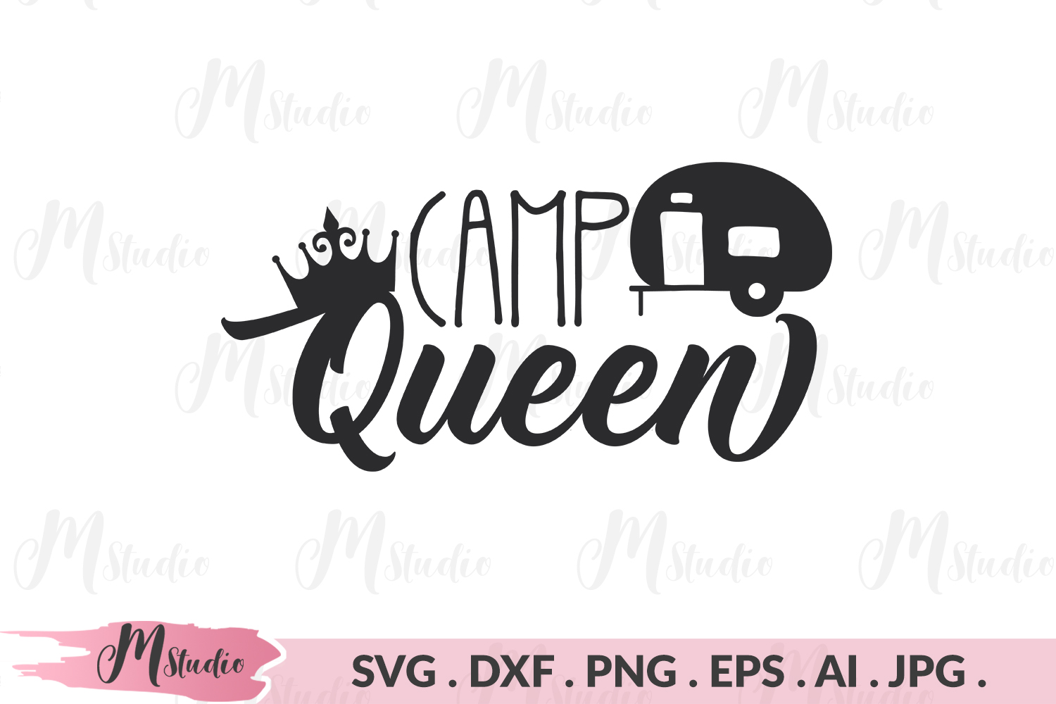 Camp Queen svg. example image 1