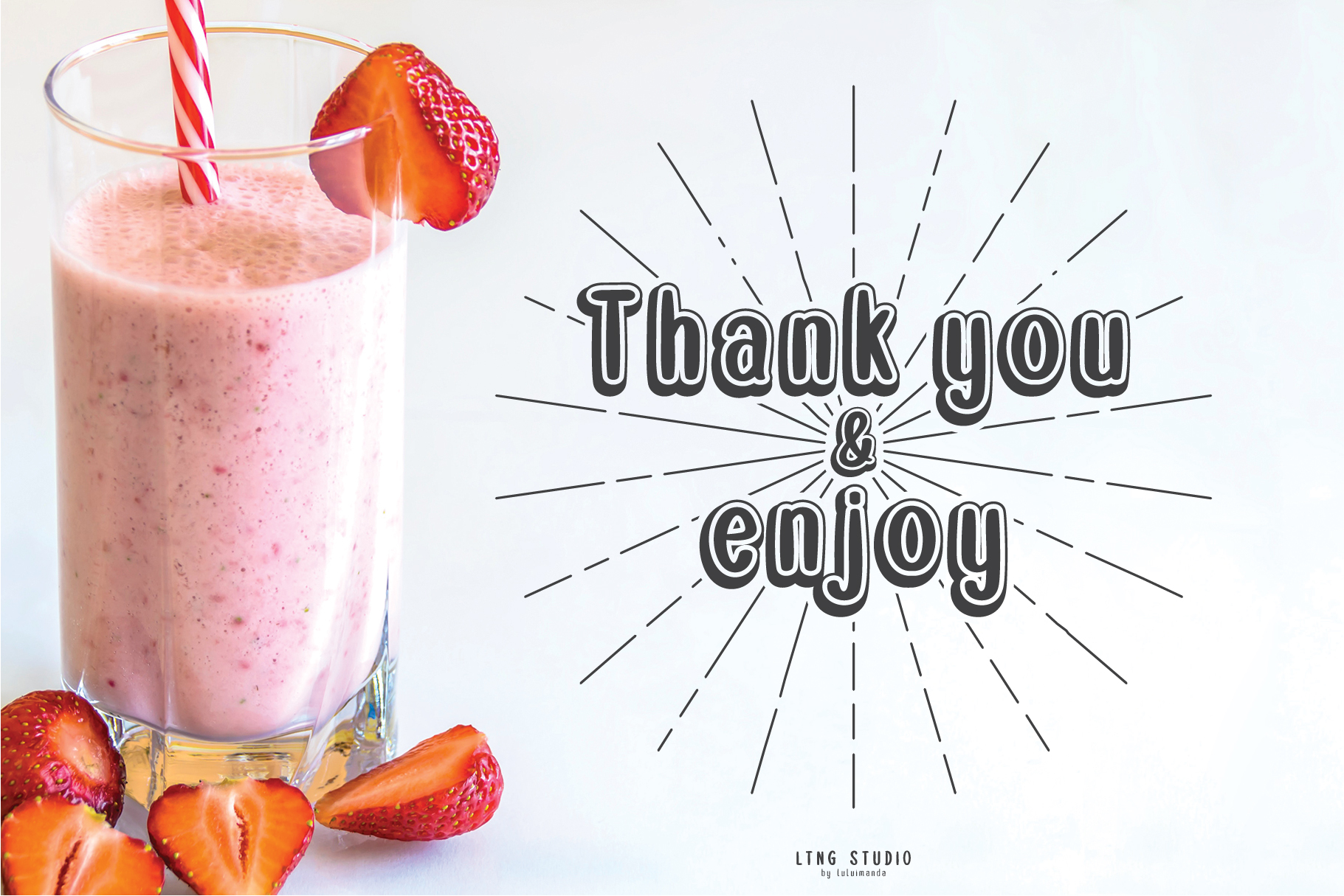 Double Smoothie Font Duo and Family example image 4