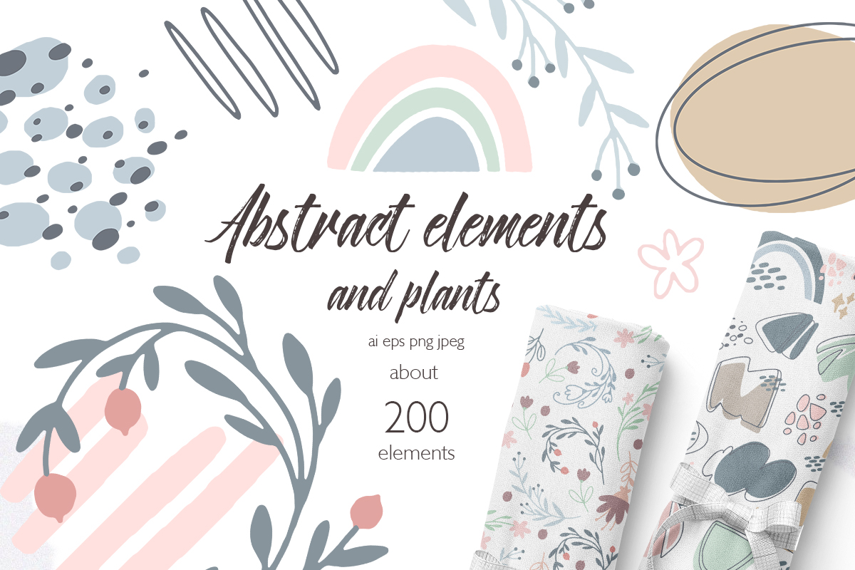 Abstract Geometric. Cute pastel example image 1