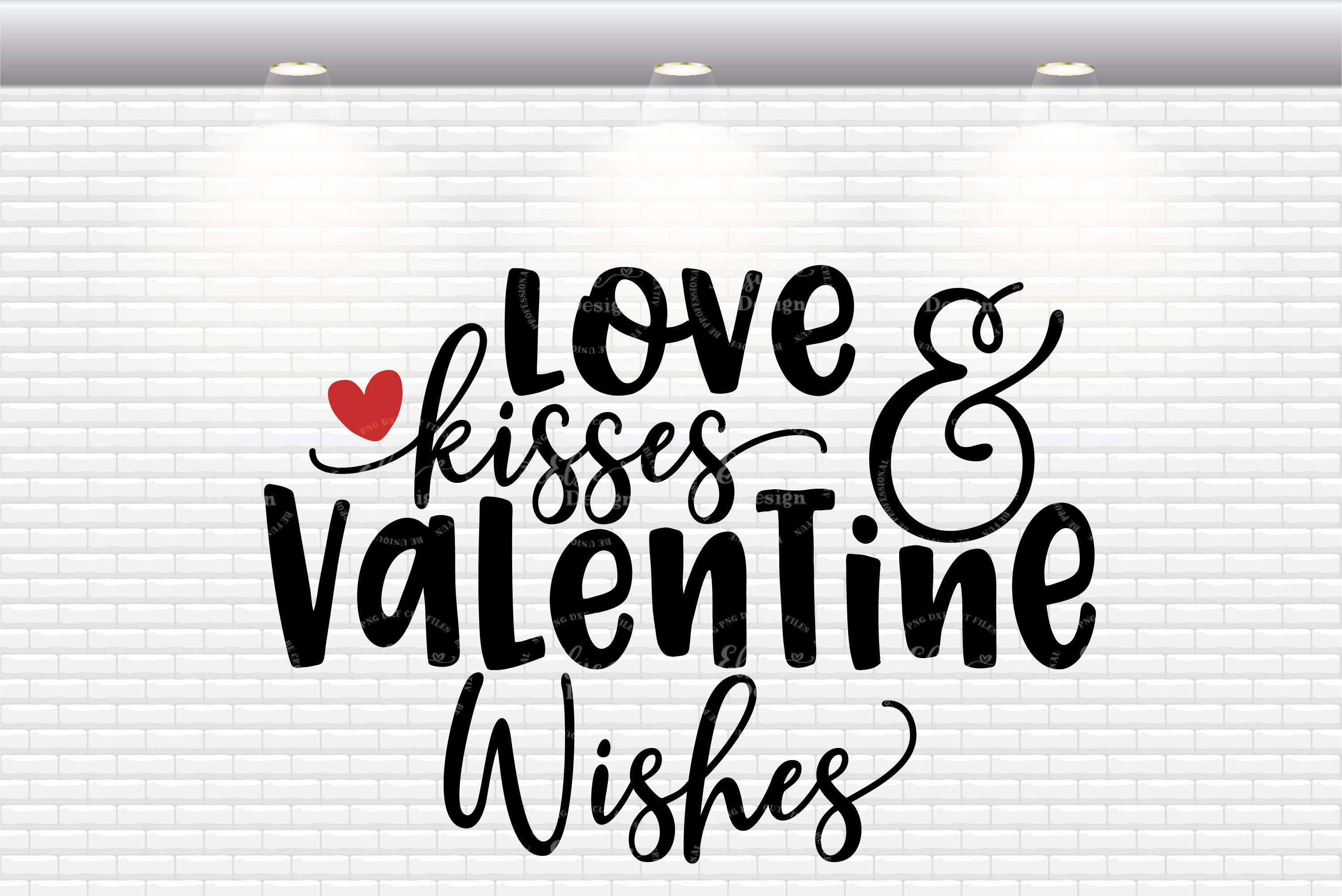 Love Kisses and Valentine Wishes SVG Cut Files example image 2
