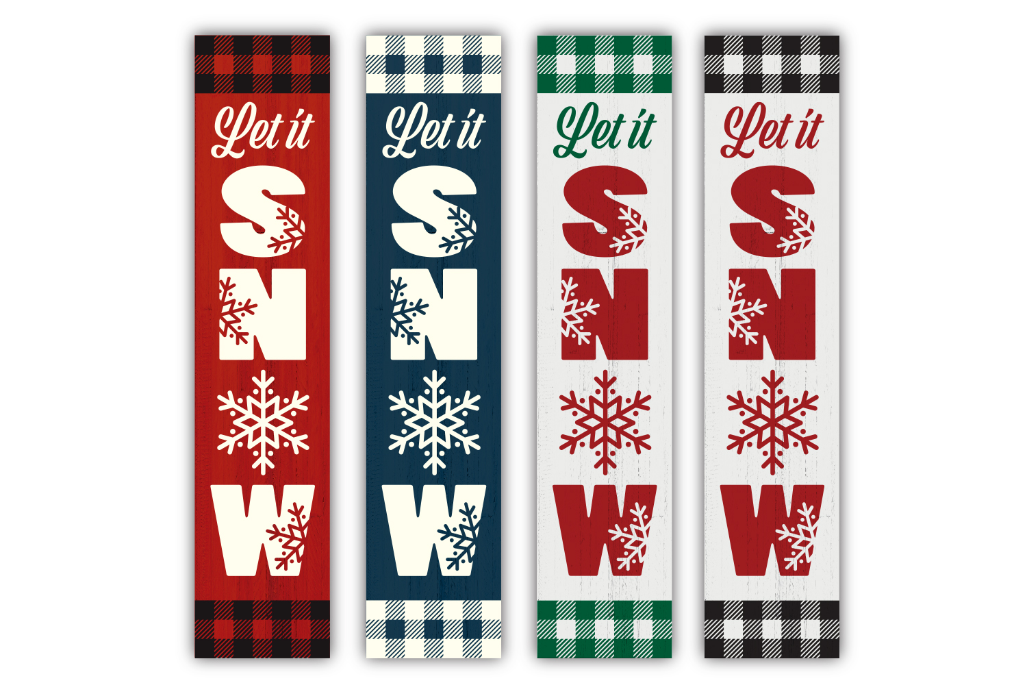 Christmas Winter porch sign bundle - SVG, EPS, JPG, PNG, DXF example image 4