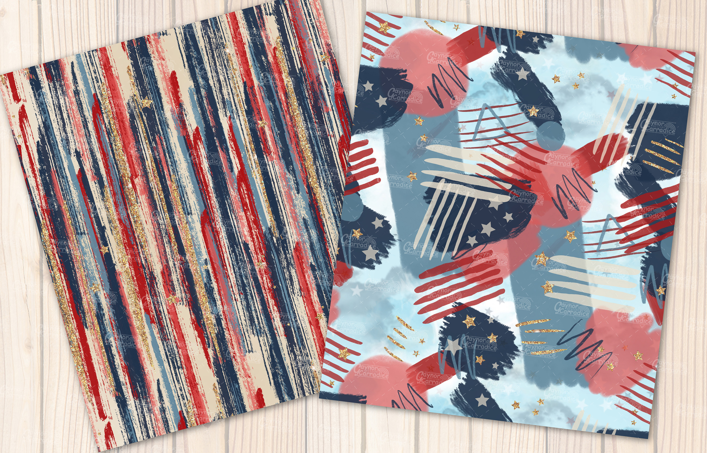 4th of July seamless pattern collection example image 5
