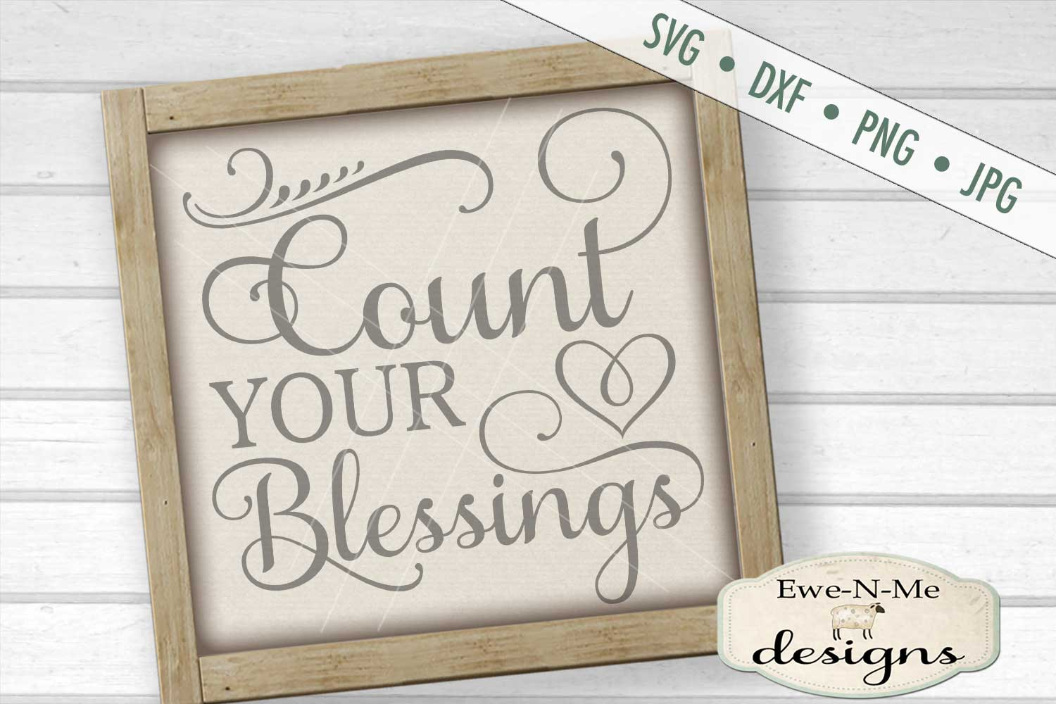 Count Your Blessings SVG DXF Cut File example image 1