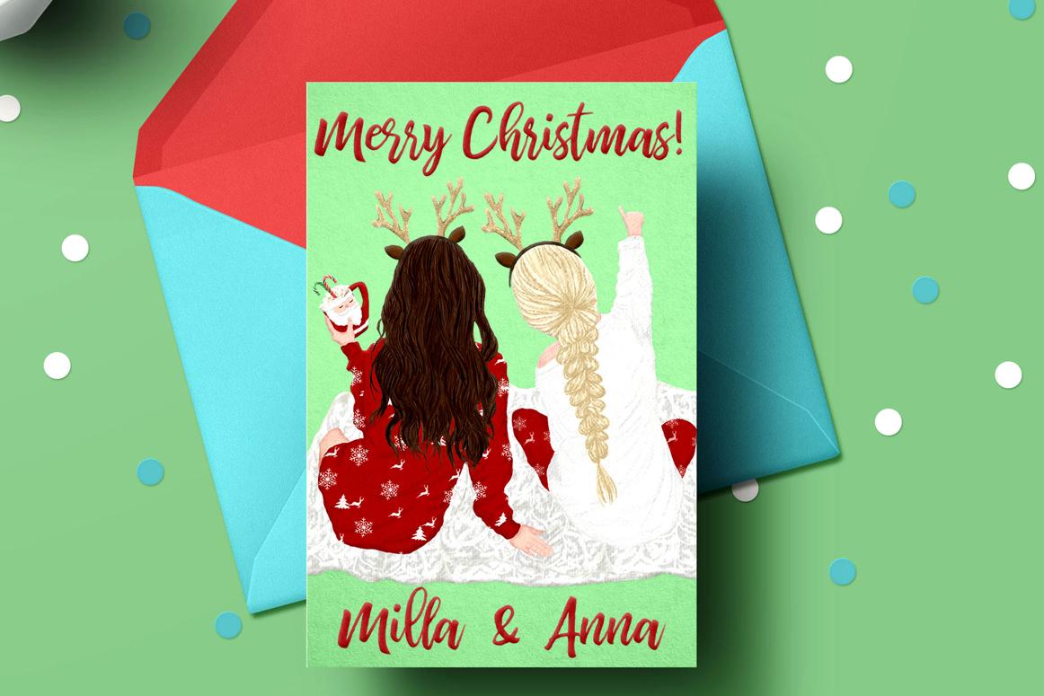 Christmas clipart, Girls Clipart, Planner Girls,Custom Girls example image 6