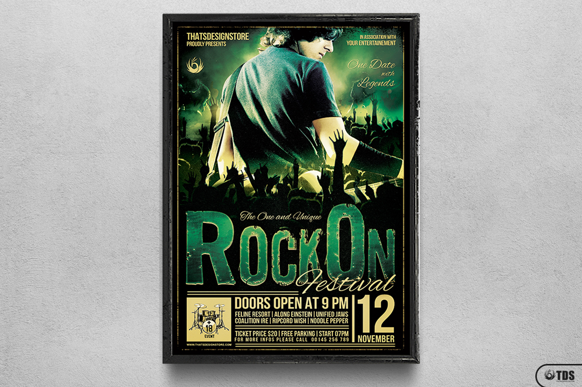 Rock Festival Flyer Template V2 example image 6