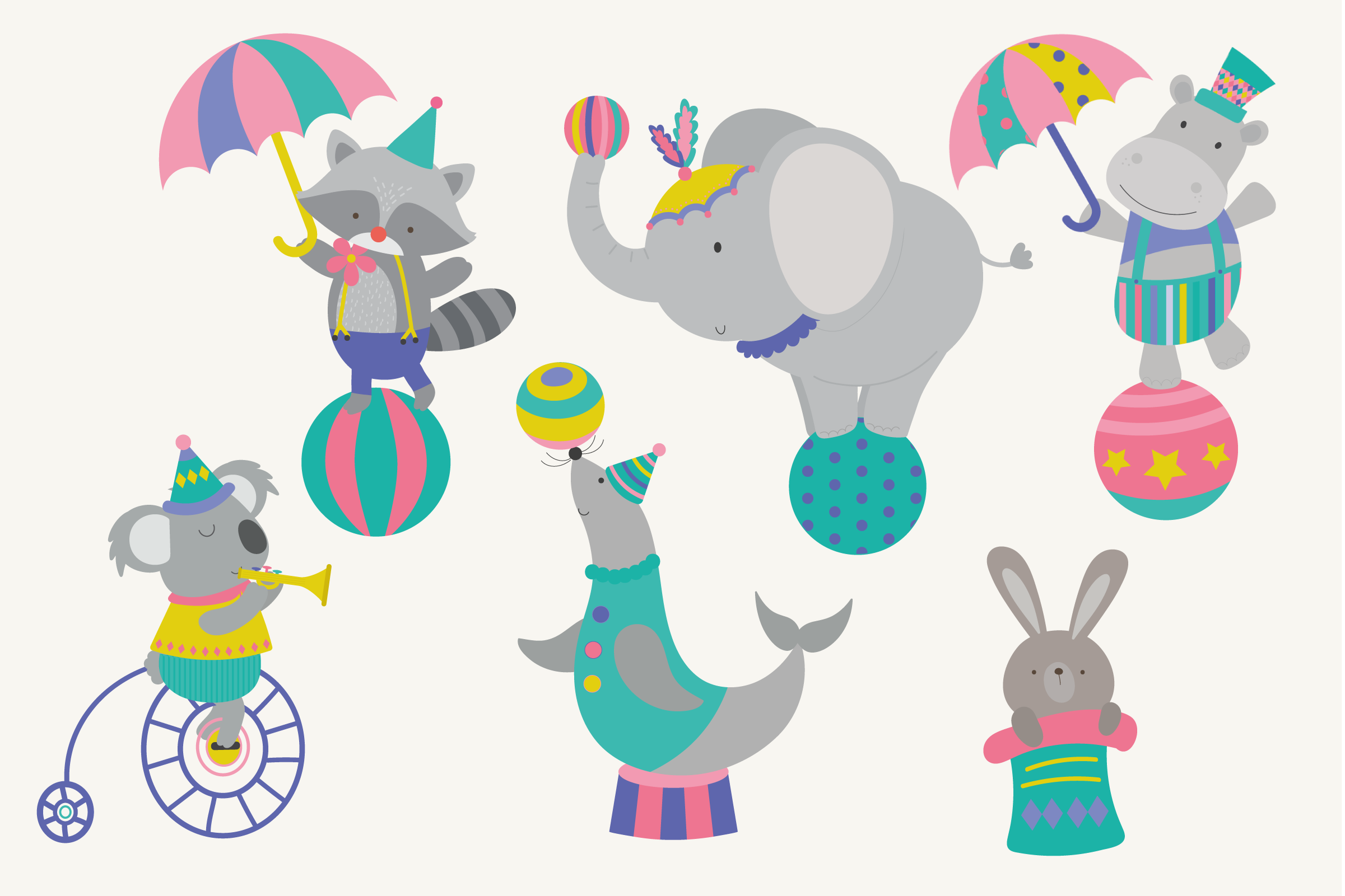 Animal Circus clipart example image 3