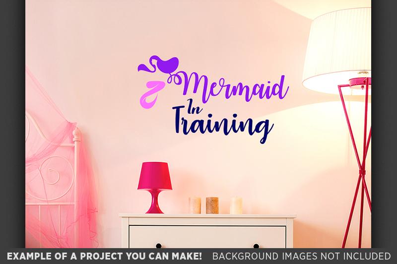Mermaid in Training SVG File - Girls Mermaid T-Shirt - 1065 example image 2