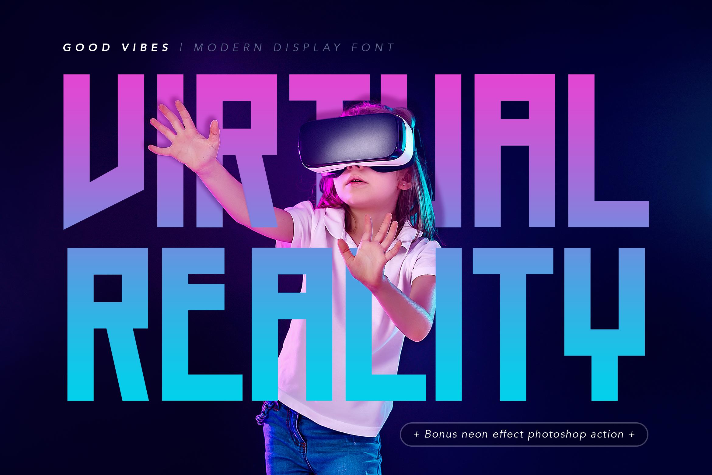 Good Vibes - Modern Neon Display Font example image 2