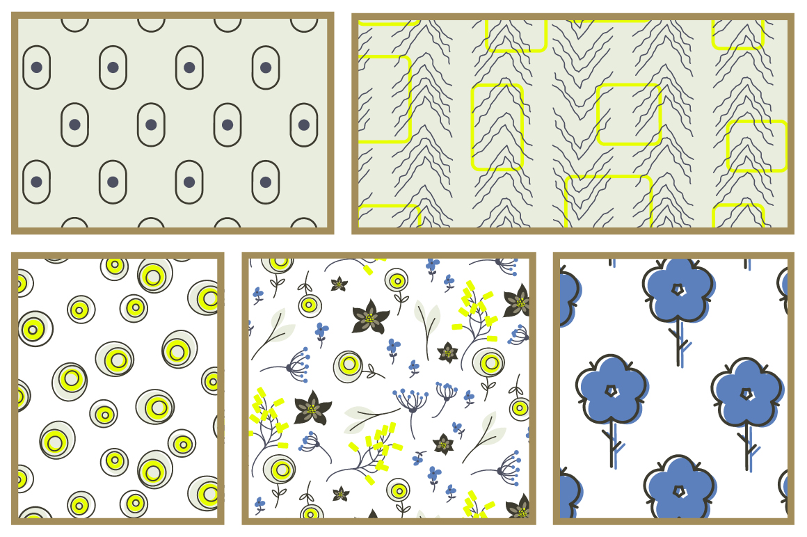 Blue Meadow Floral Patterns example image 5