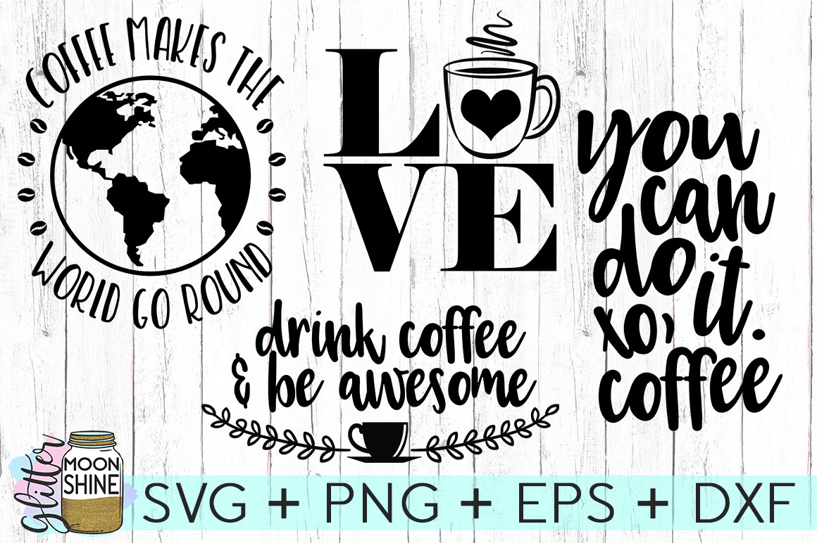 Coffee Lovers Bundle Of 16 SVG DXF PNG EPS Cutting Files example image 2