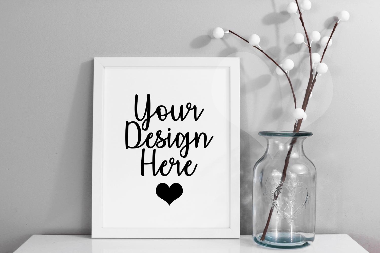 Styled Frame Mockup, White Frame Mockup, Styled Stock Photo example image 1