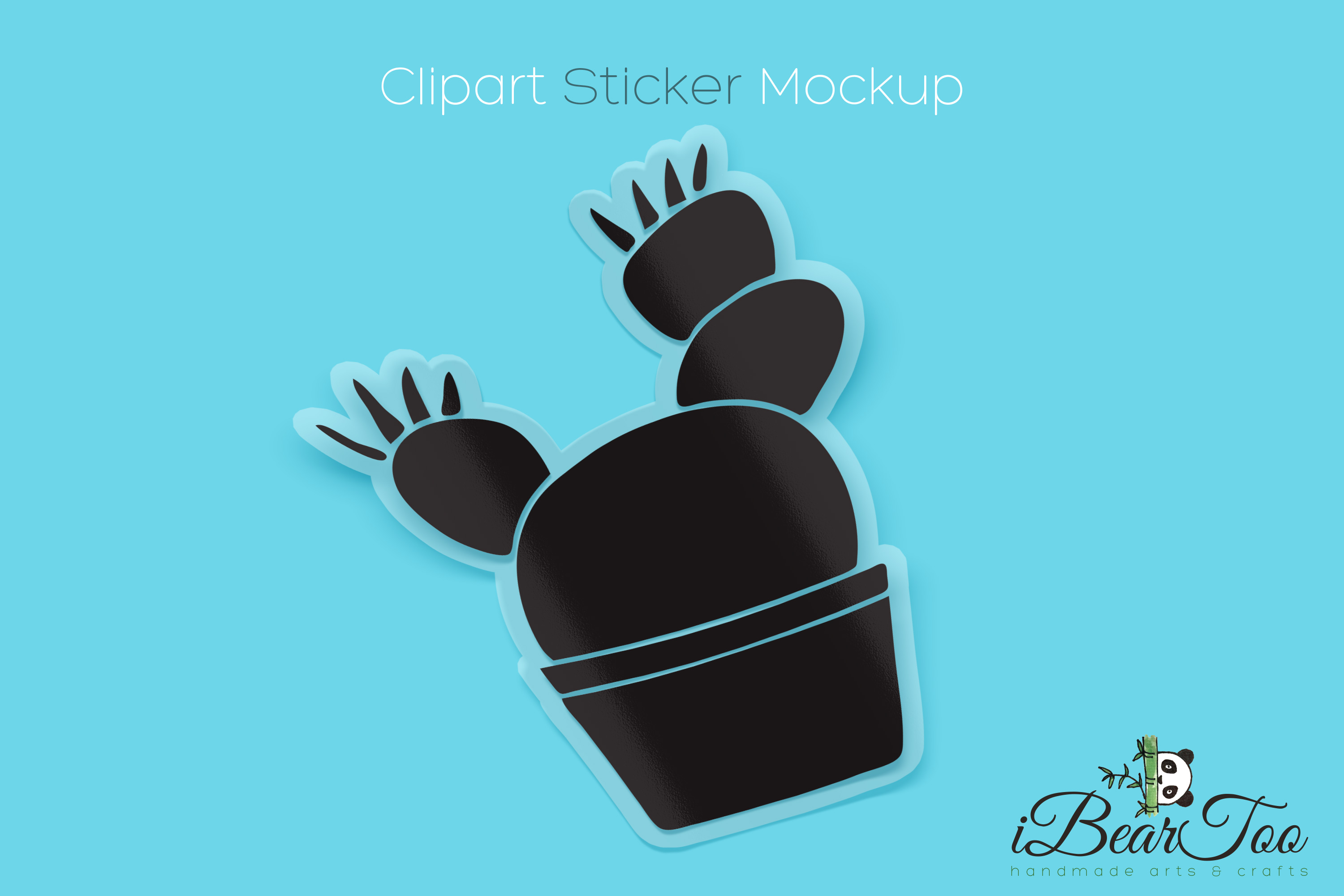 Cactus SVG Black Clipart Succulent Drawing Vector Cut File example image 5