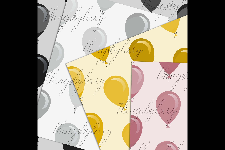 100 Seamless Balloon Pattern Kid Birthday Digital Papers example image 5