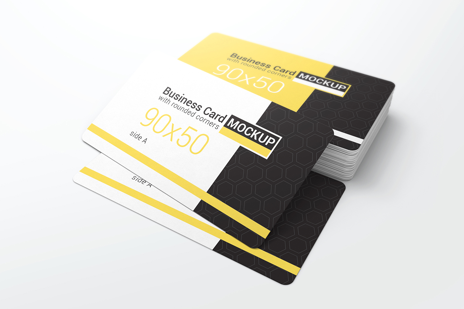 Business Card With Rounded Corners Mockups example image 5