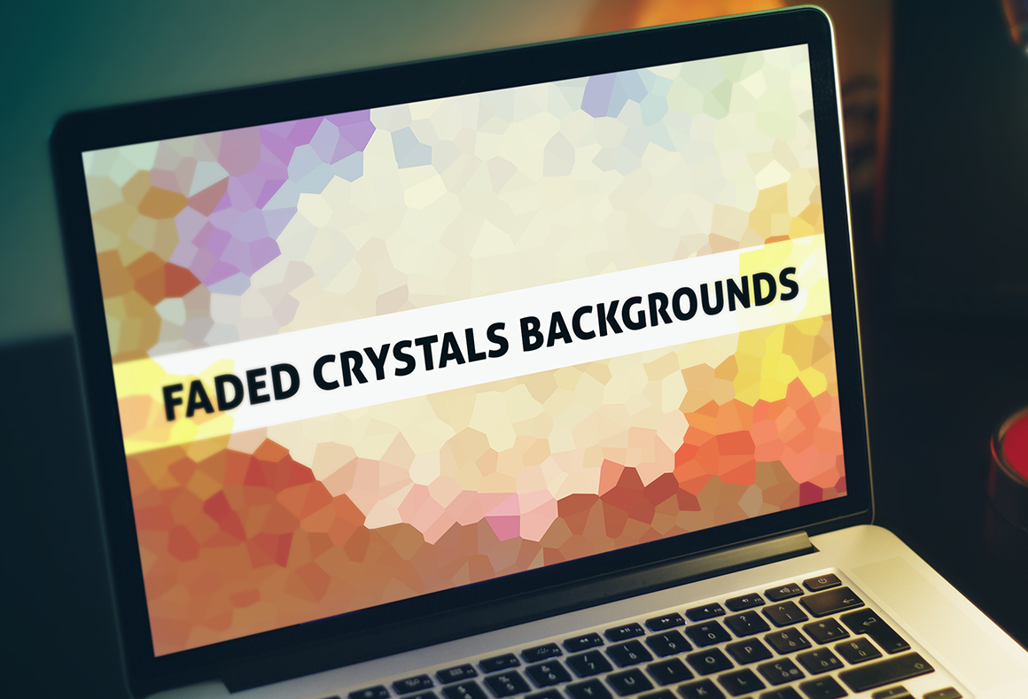 70 Faded Crystals Backgrounds example image 1