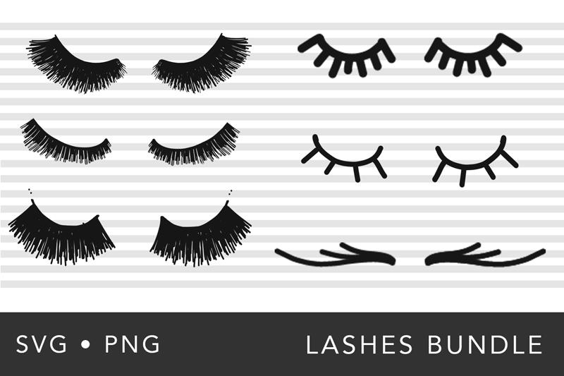 Eye Lashes SVG Bundle example image 1