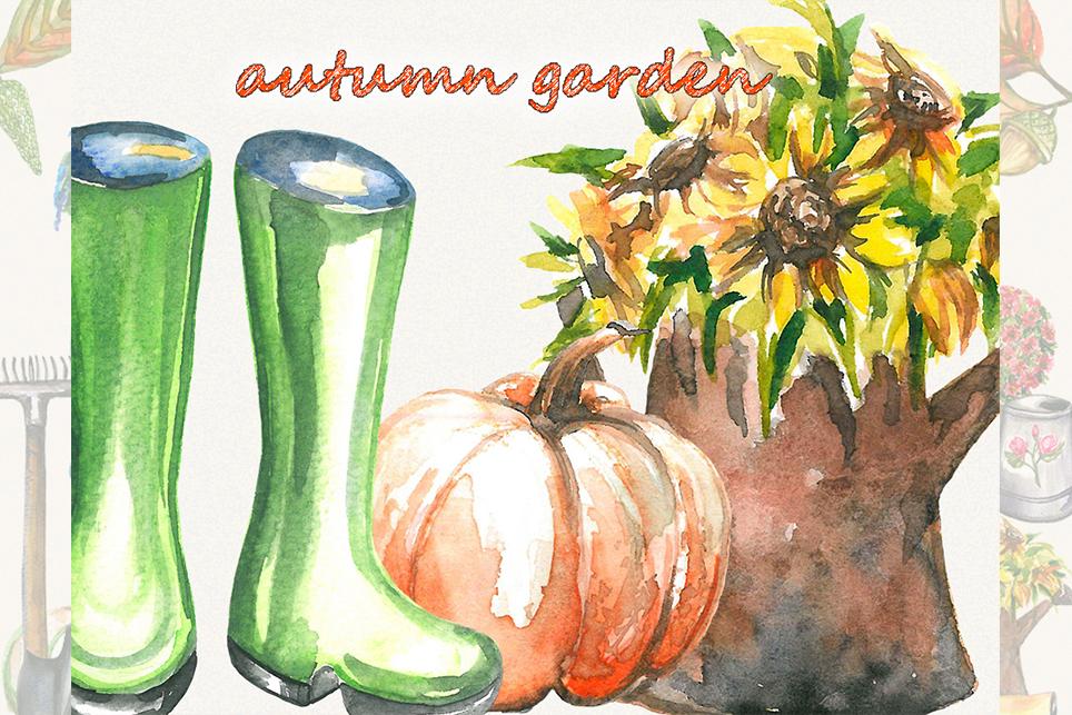 Garden clipart, spring clipart, garden tools, watercolor example image 6