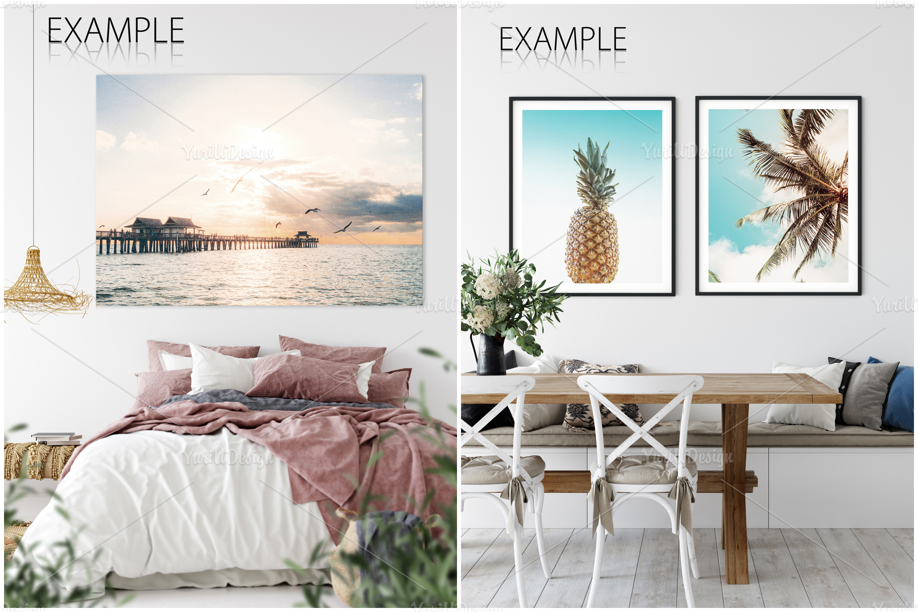 Frames & Walls Coastal Mockups Bundle example image 5