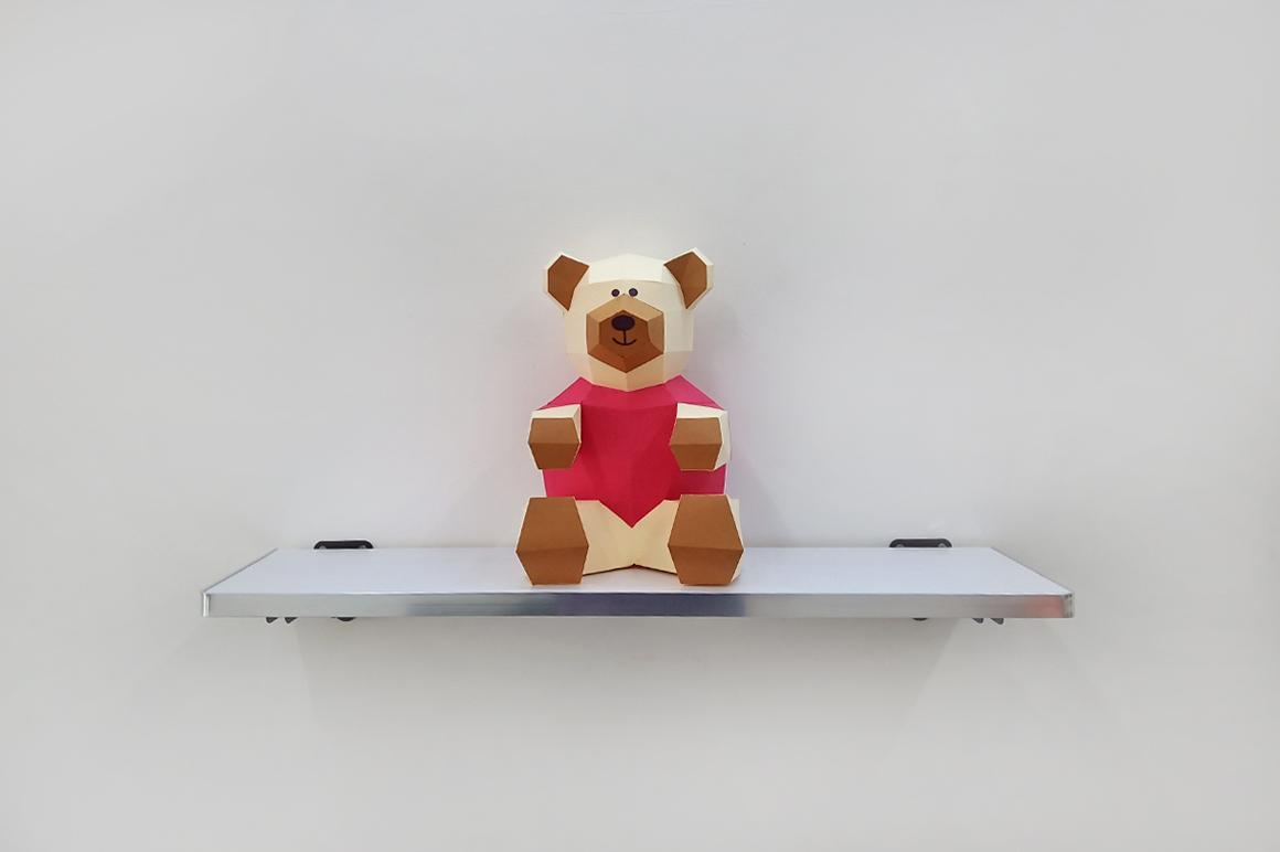 DIY Teddy bear,Papercraft Teddy bear,Paper Bear,Svg files example image 2