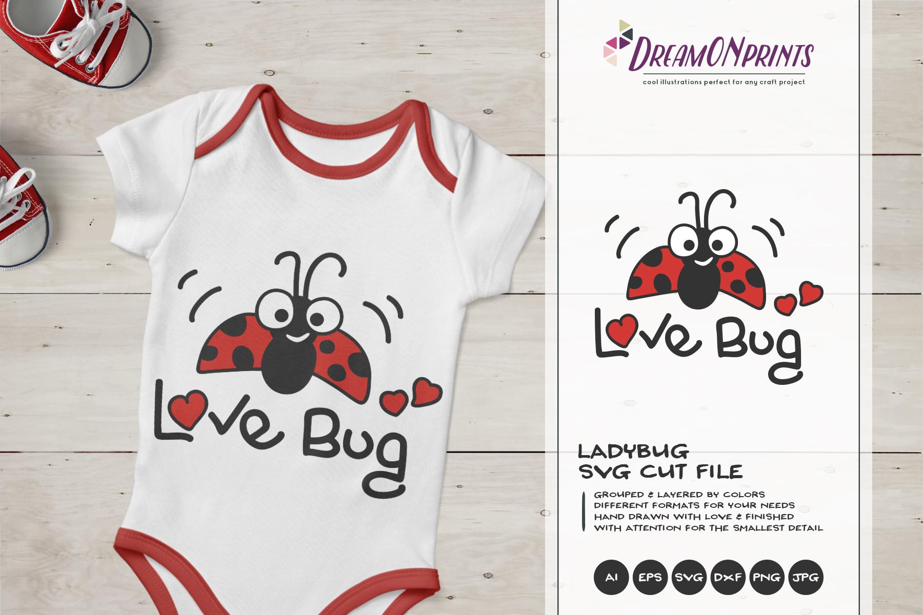 Love Bug SVG | Ladybug SVG | Children example image 1