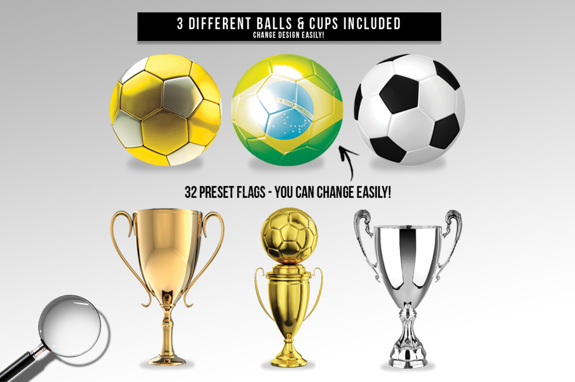 Soccer Russia World Cup 2018 | 2in1 Flyer Template example image 7