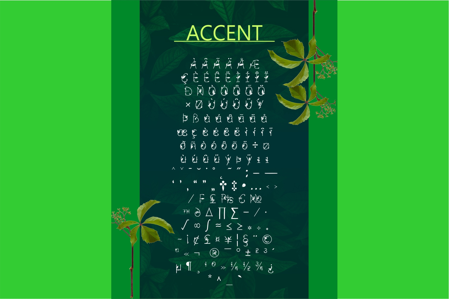 GREEN NATURE FONT example image 6