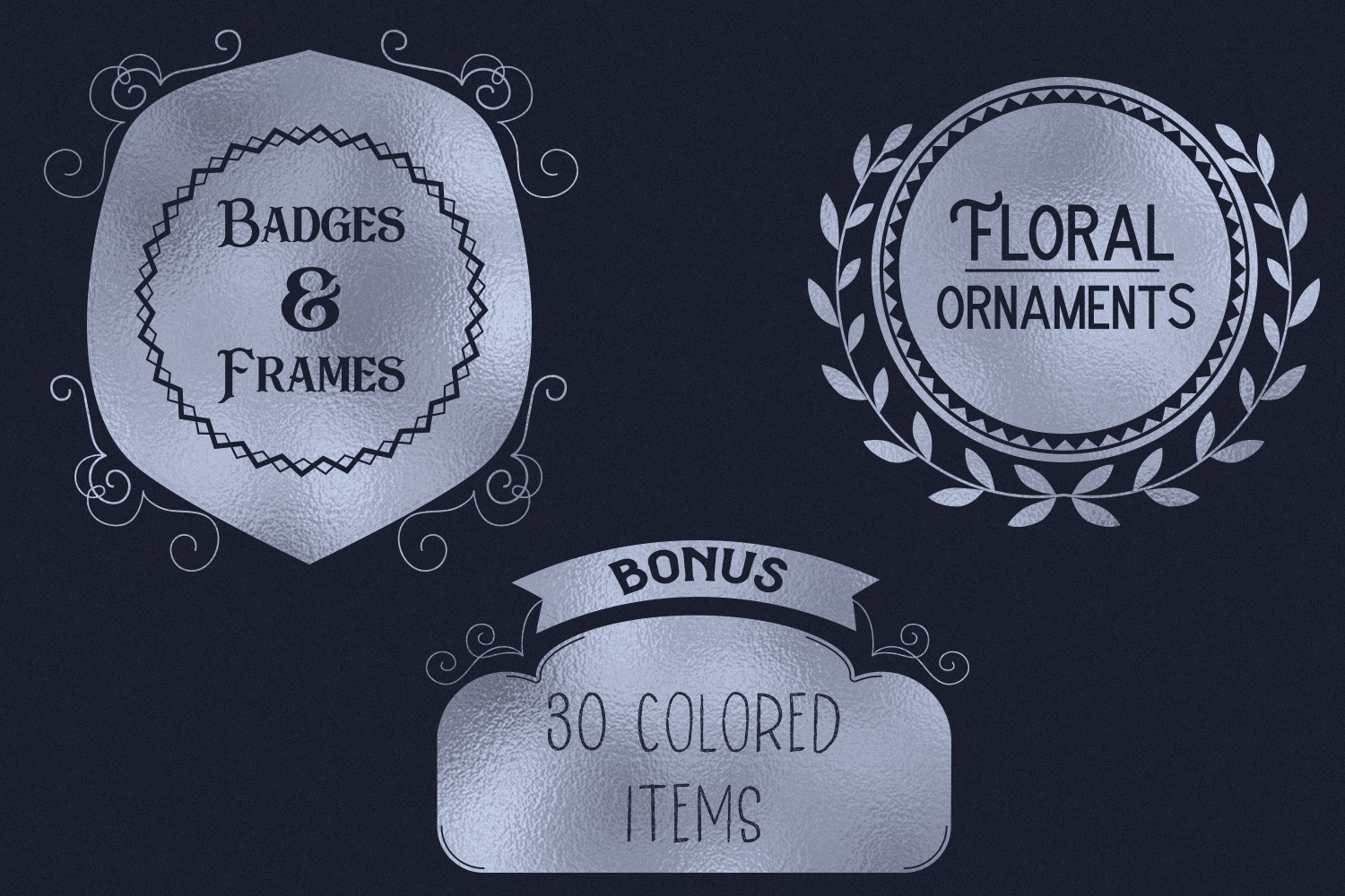 Badges & Frames SVG Cut files - 30 items example image 3