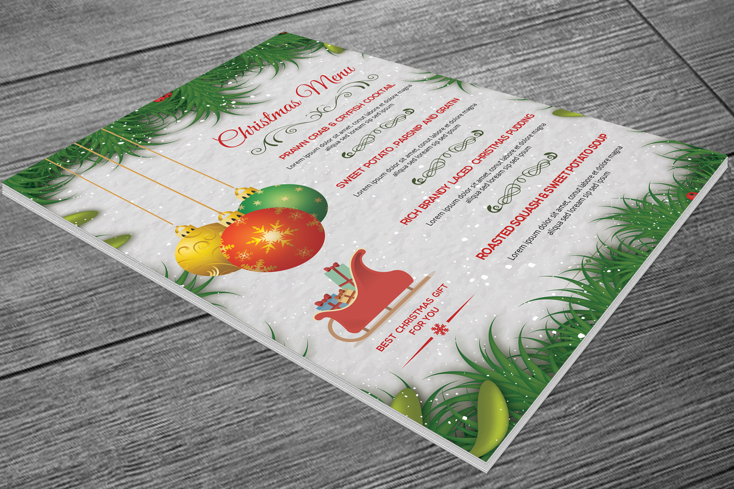 Christmas Party Menu example image 2