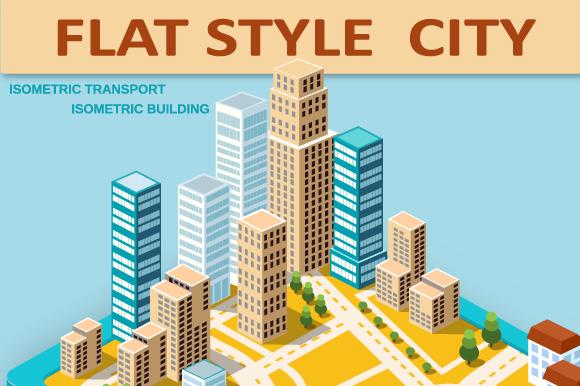 Flat City vector Set example image 1