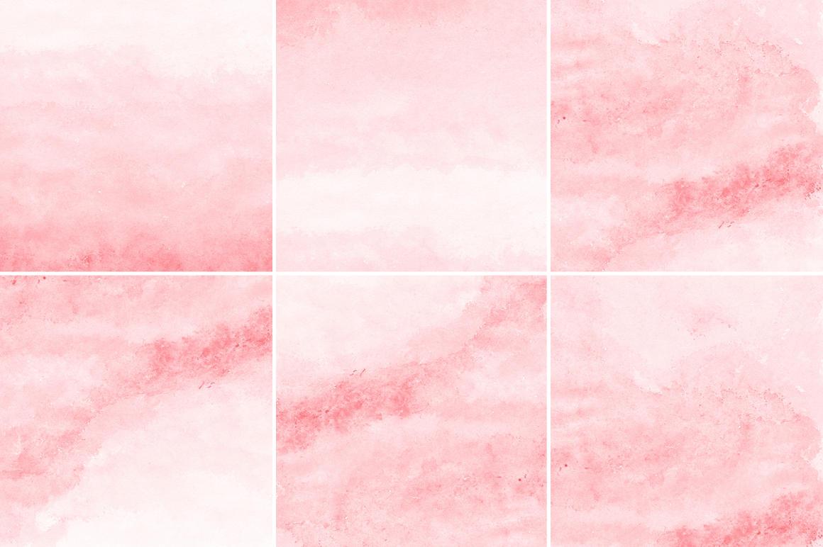 Coral Red Watercolor Texture Backgrounds example image 2