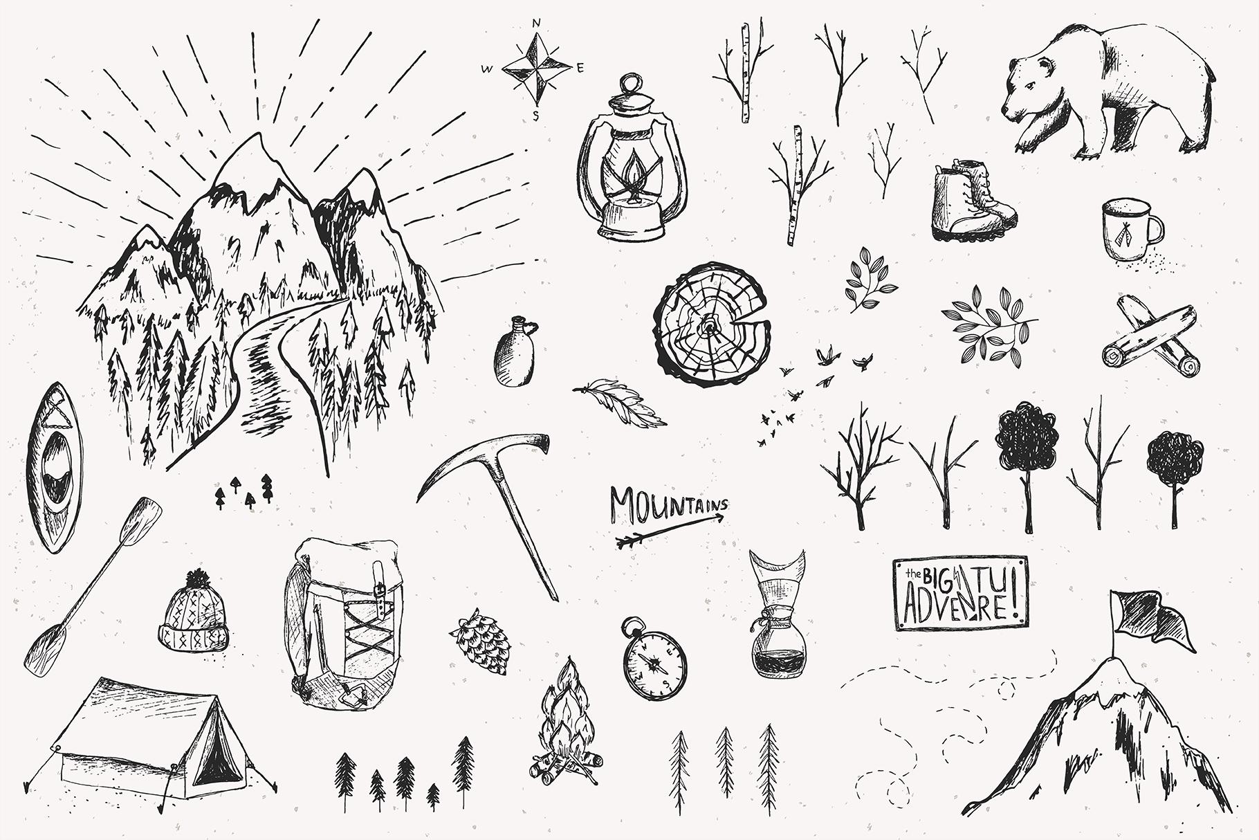Big Adventure | Sketched Set example image 5