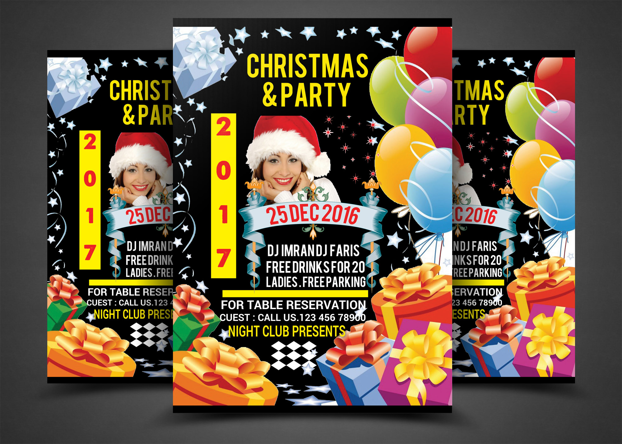 Christmas & party Flyer example image 1