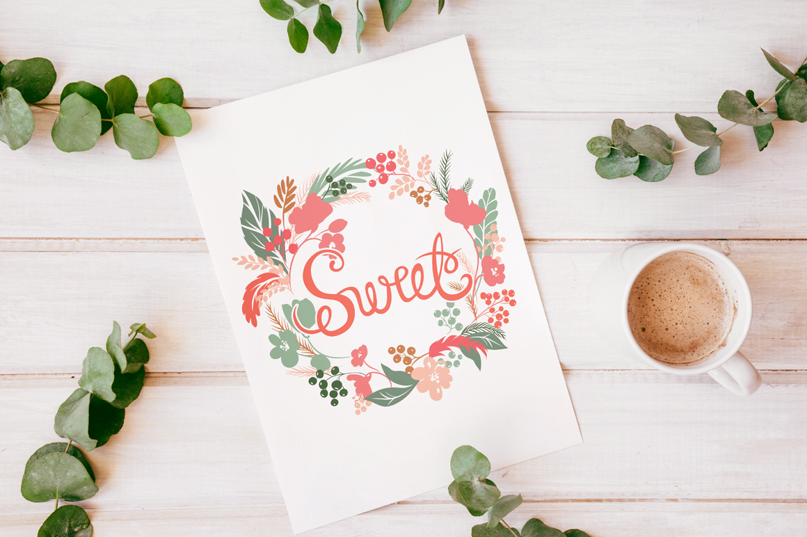 Vector Floral, patterns & hearts example image 1