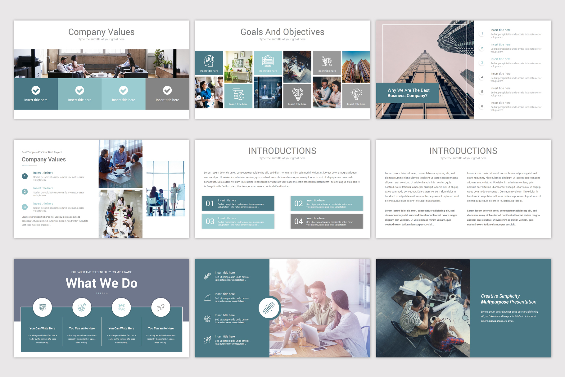 Simplicity Google Slides Template example image 6
