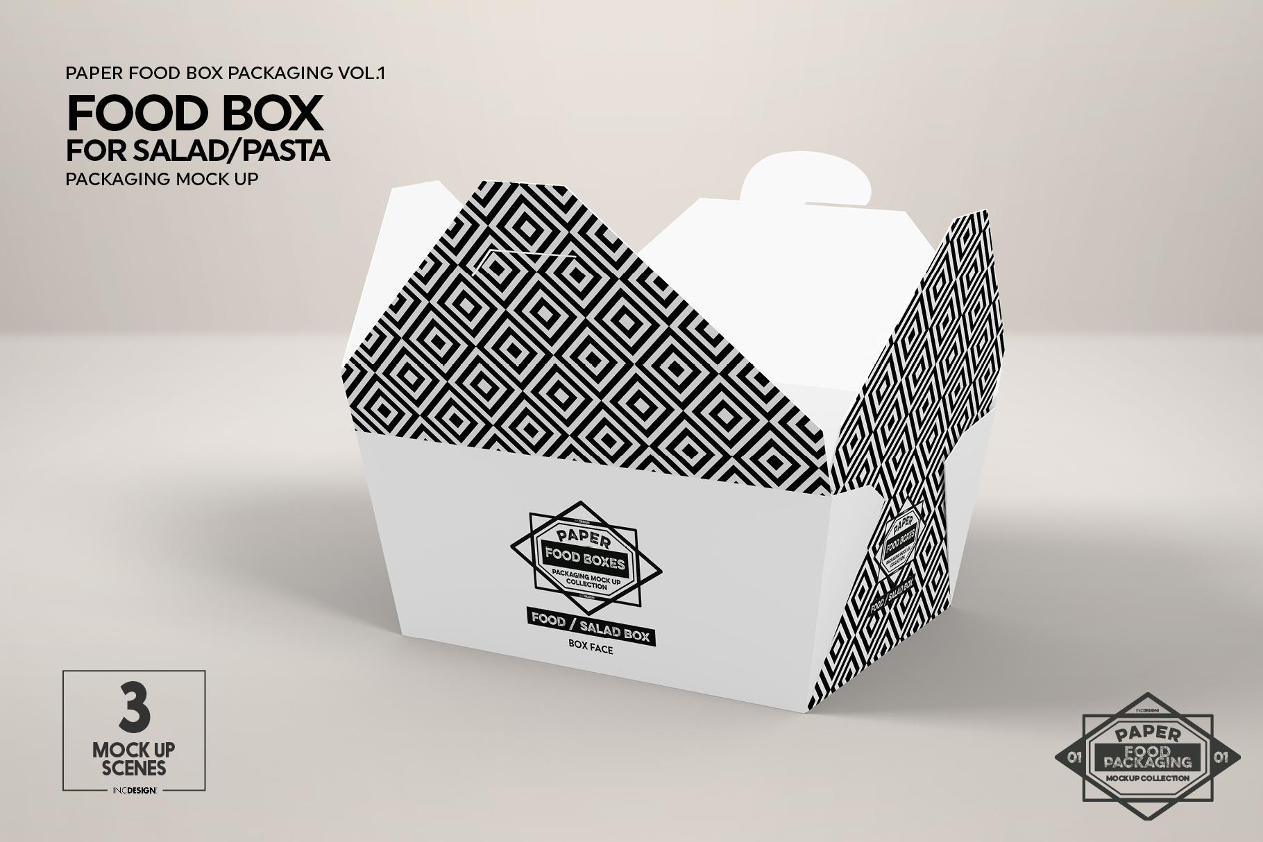 VOL.1 Food Box Packaging MockUps example image 8