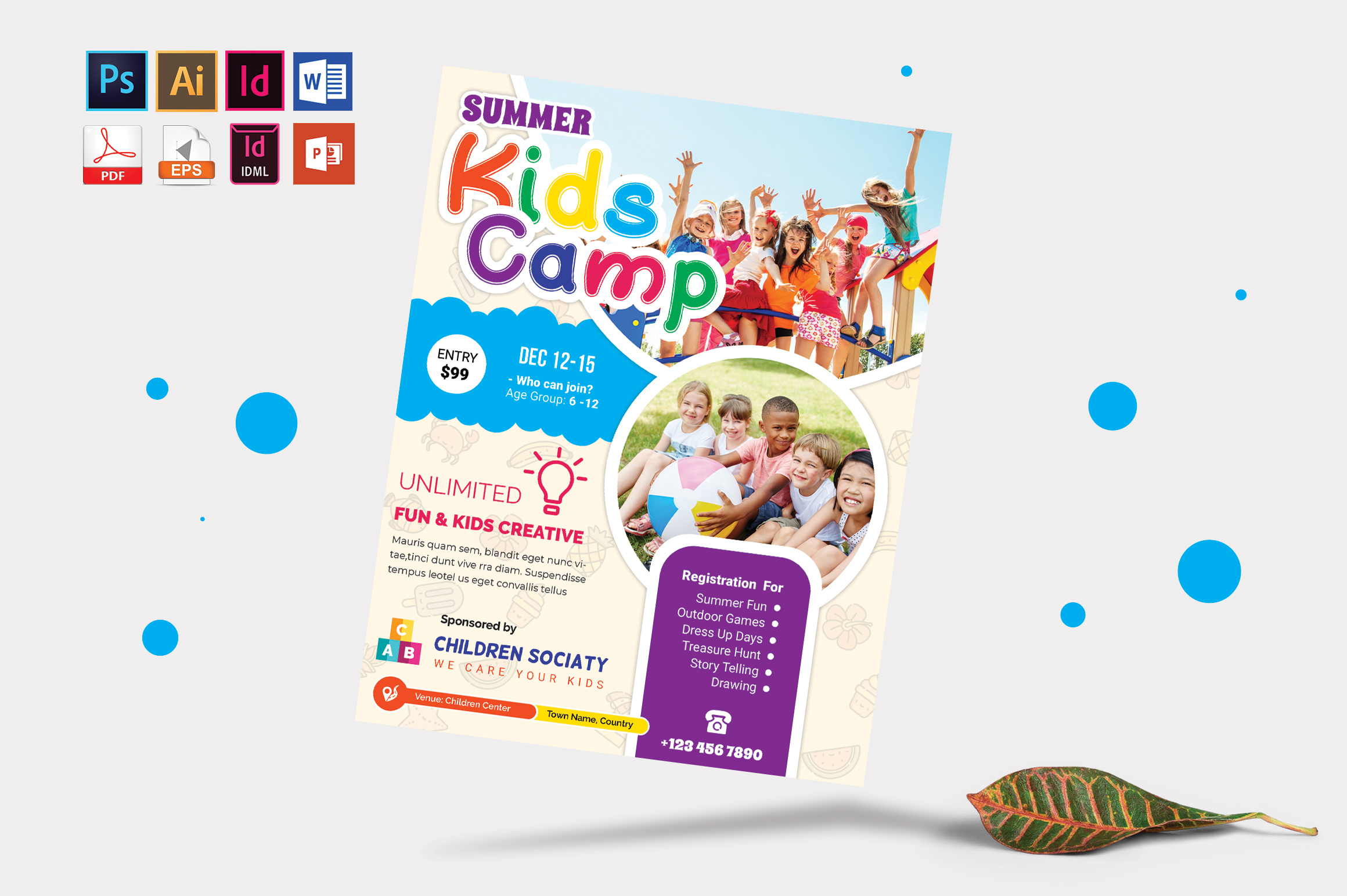 Kids Summer Camp Flyer Vol-09 example image 3