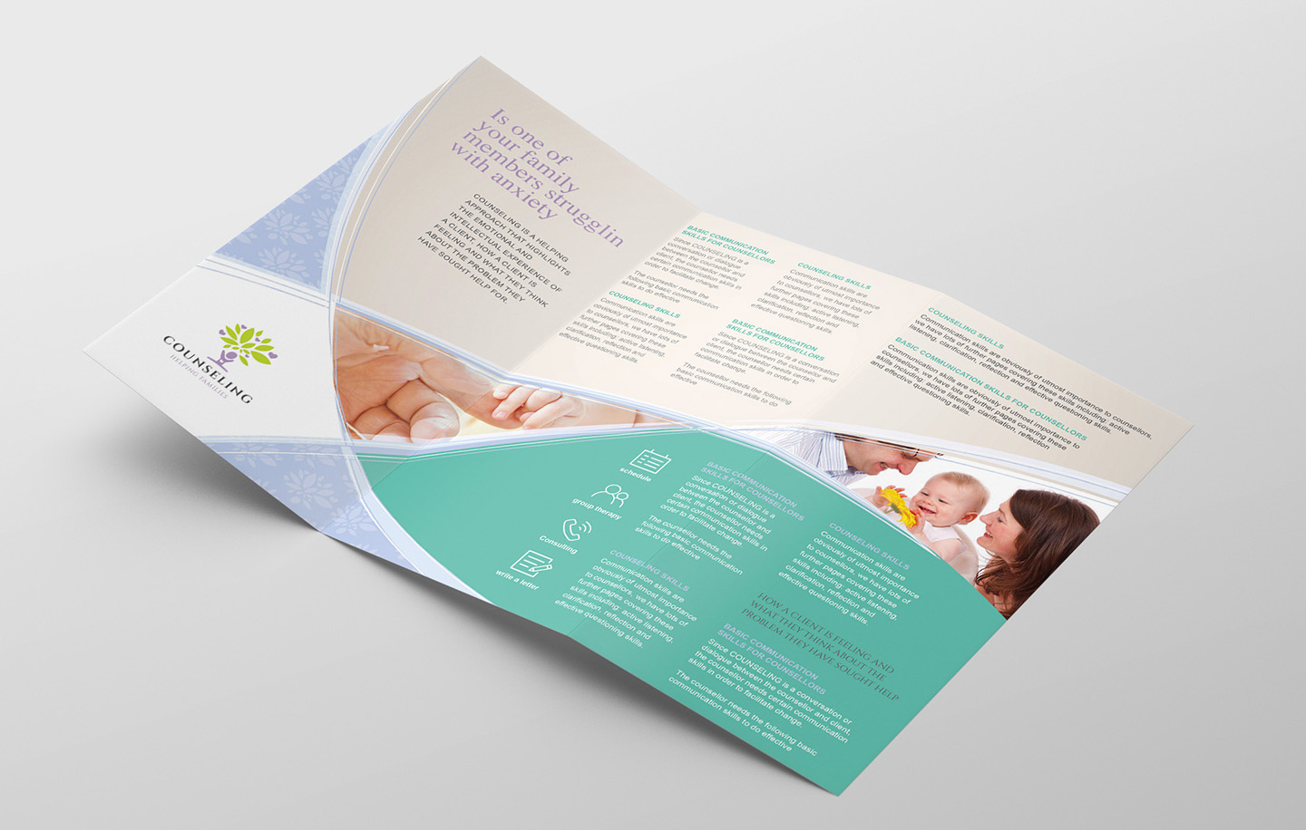 Counselling Service Tri-Fold Brochure Template example image 2