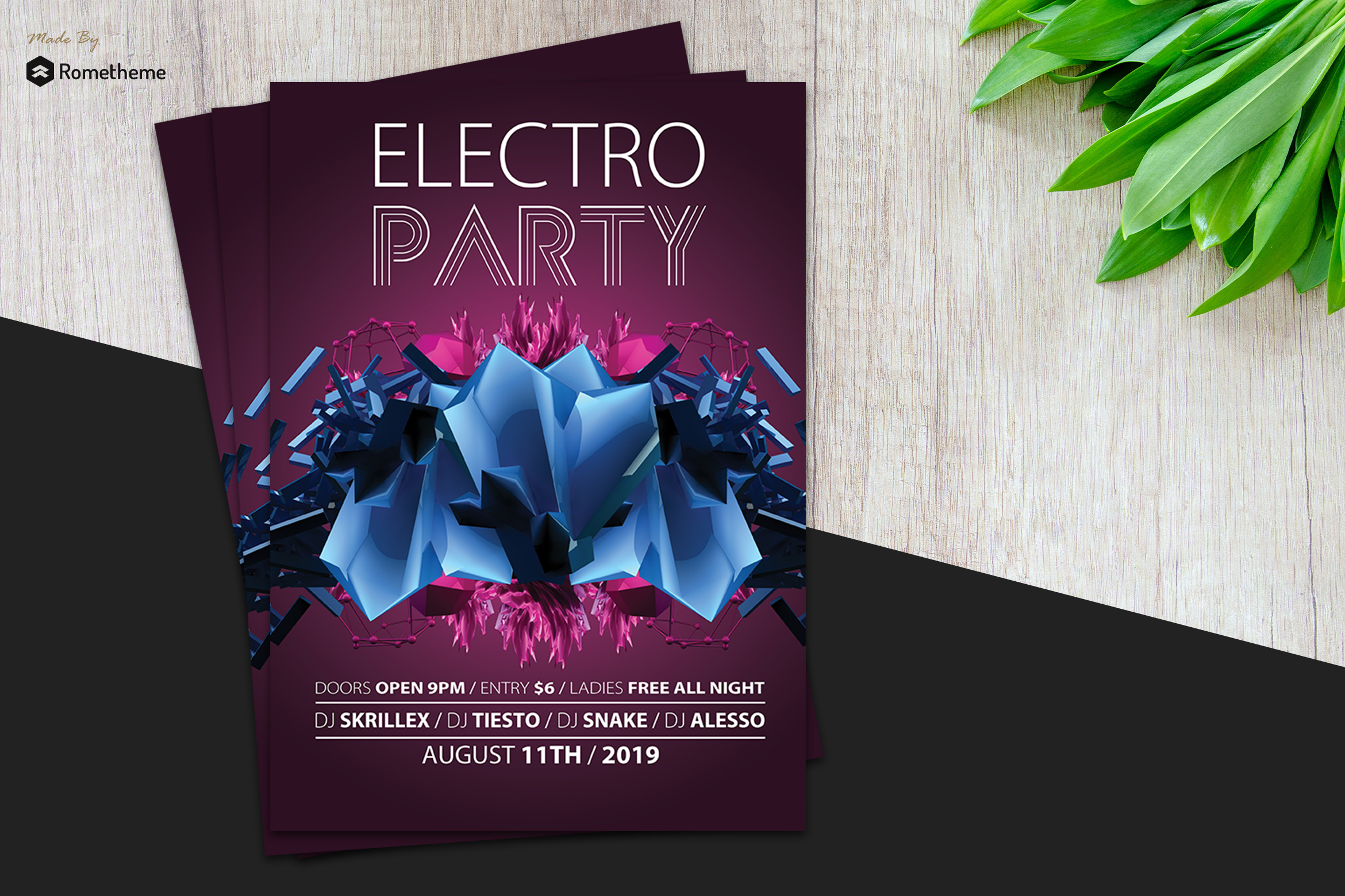 Abstract Electro Flyer vol.1 example image 1