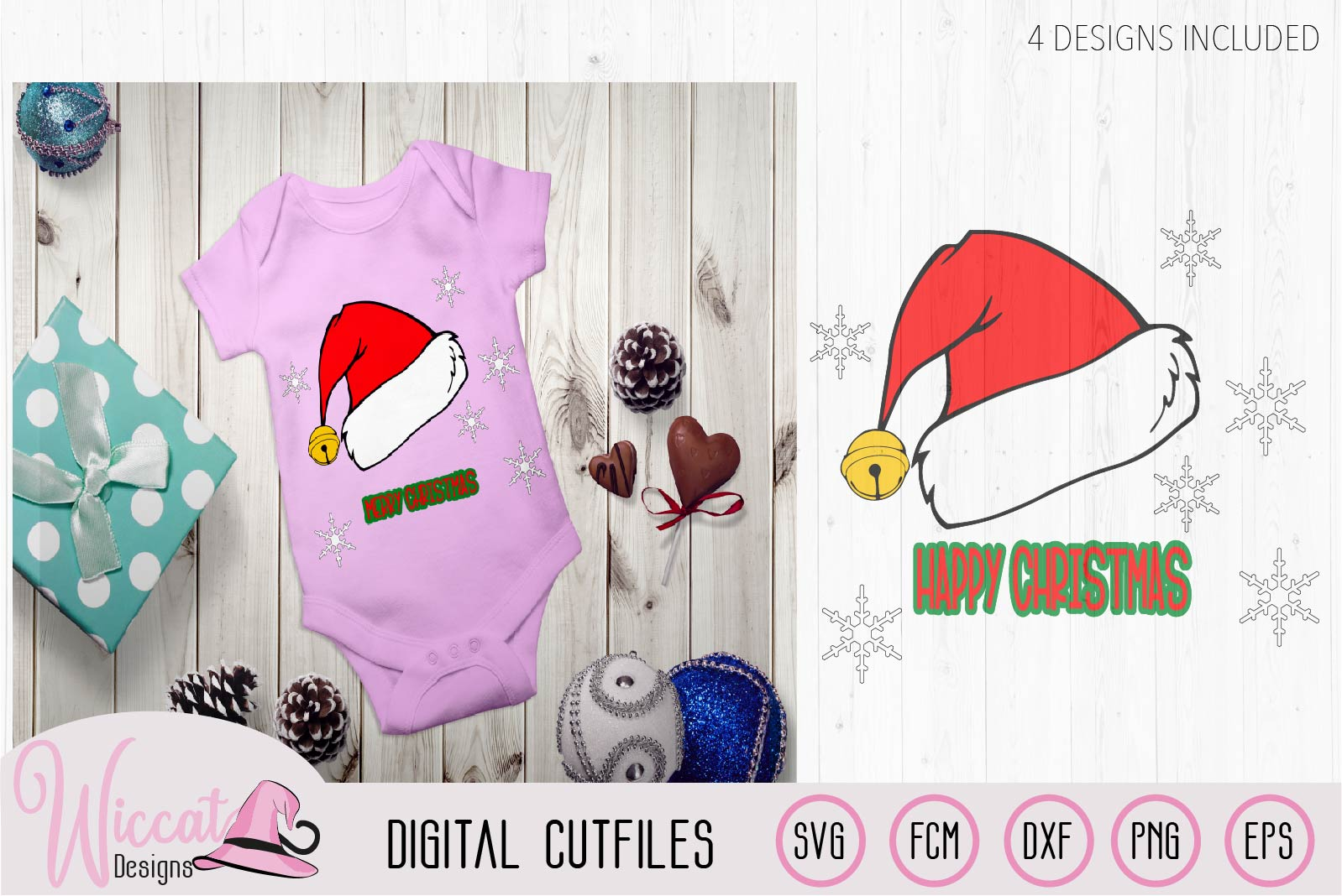 Christmas hat svg, Happy and Merry Christmas example image 2