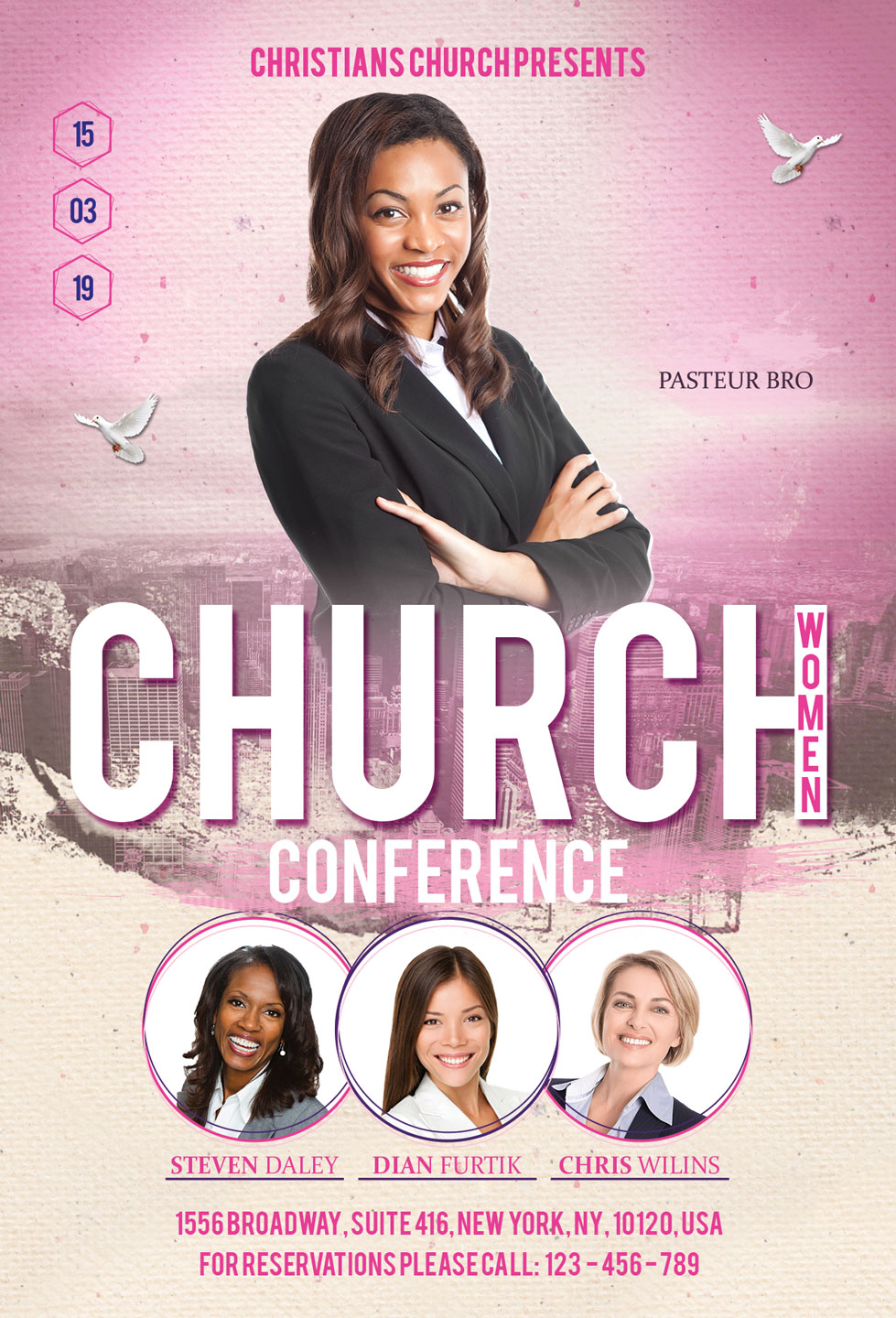 Church Women Conference Flyer Poster example image 4