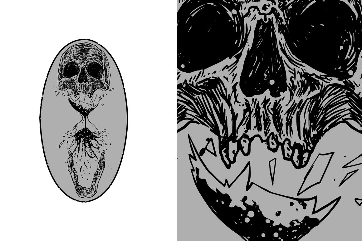 20 VECTOR skull illustration example image 15