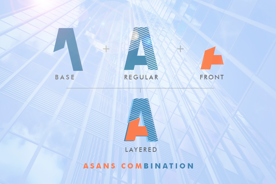 Asans Layered Font example image 6