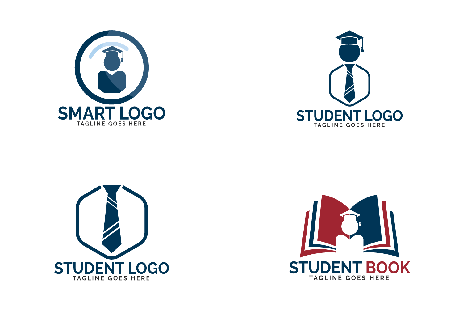 Student logo set. Educational and institutional logo design. example image 2