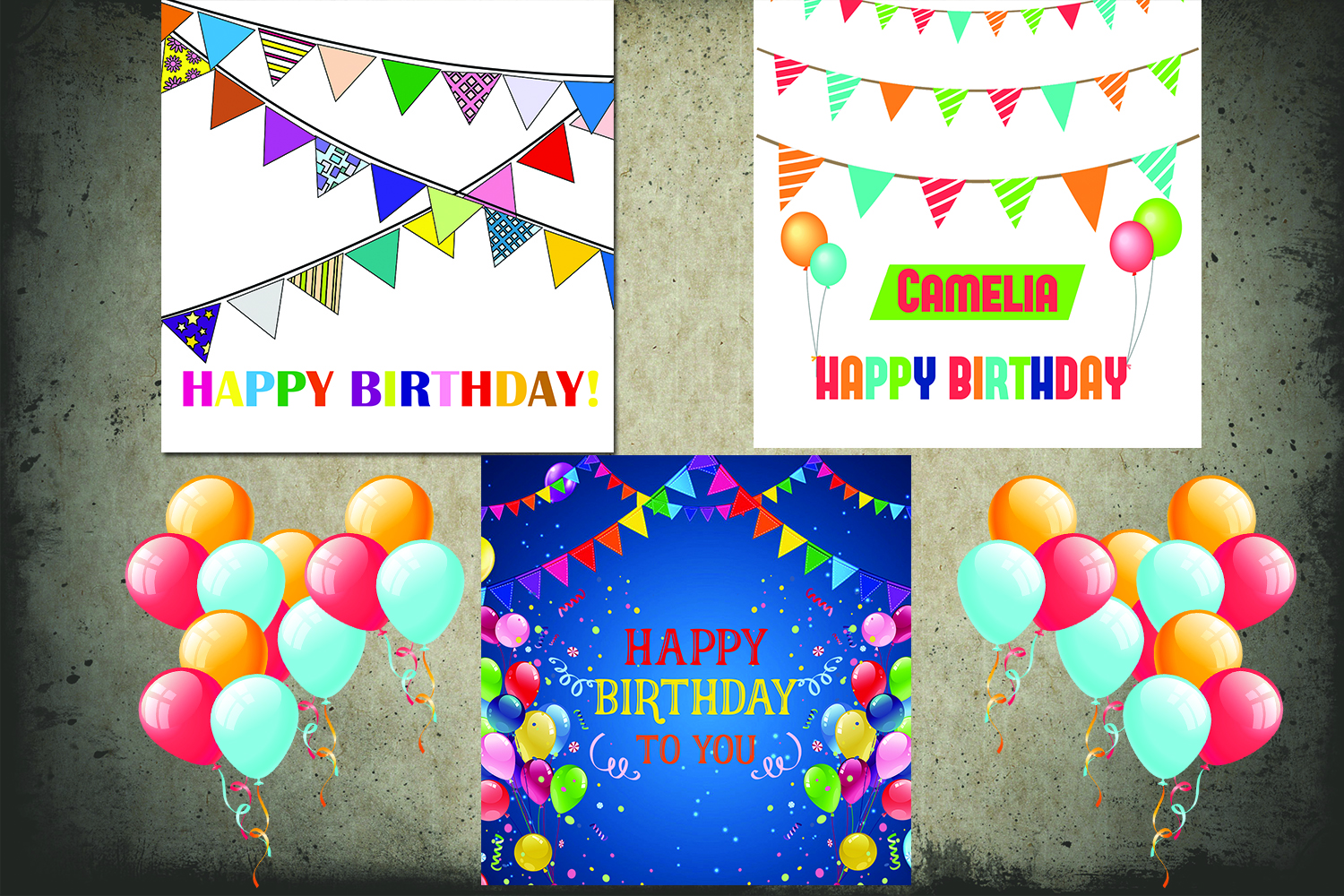 Birthday Greeting Cards Pack example image 1