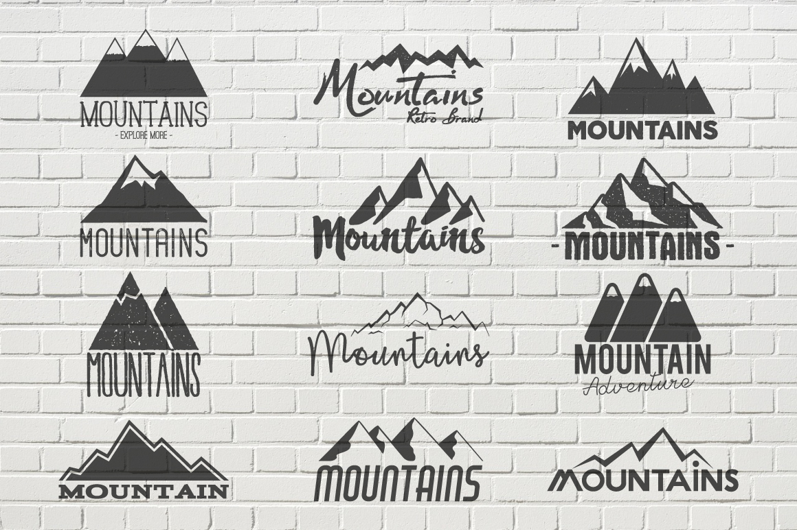 70% OFF Adventure Graphics Pack / Retro Logos Set / SVG's Collection / Icons example image 14