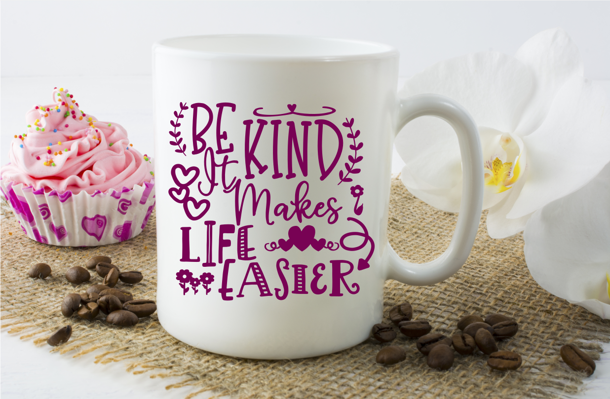 Be Kind Life Is Easier - A Motivational SVG example image 4