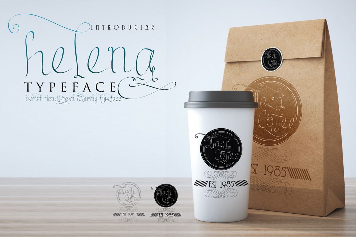 helena script handdrawn typeface example image 13
